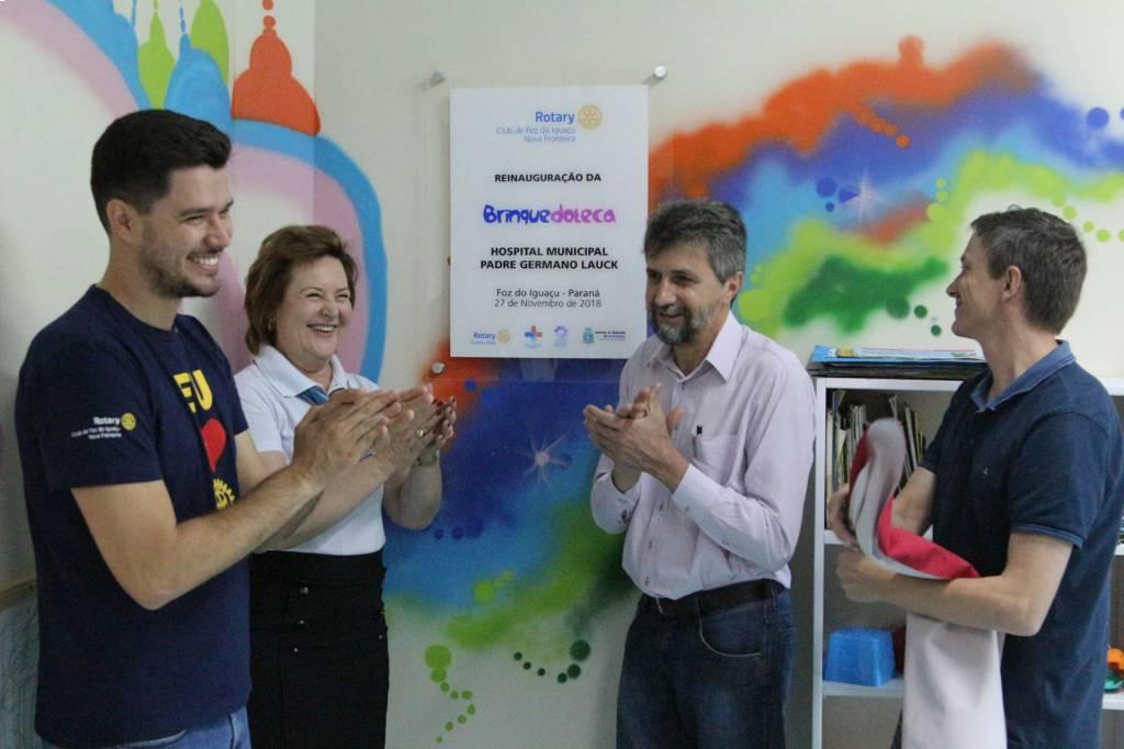 Reinauguração para reforçar parceria entre o Hospital e o Rotary