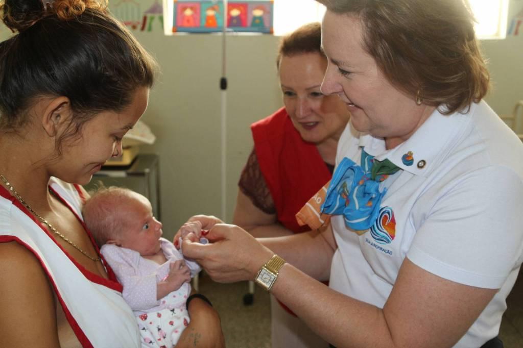 Sonia Taube Linero ficou encantada com as crianças